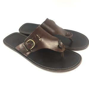 SAKS FIFTH AVENUE Leather Fashion Thong Sandal 9.5